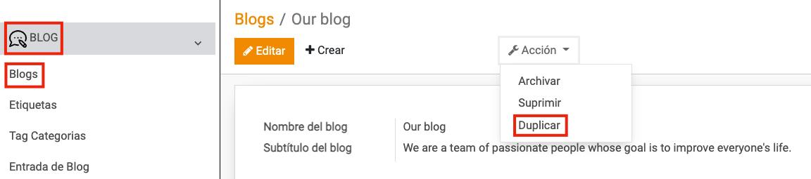 duplicar Blog