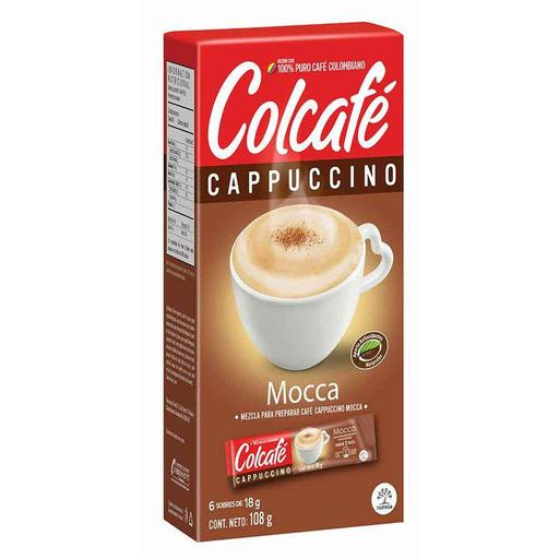 CAFE COLCAFE CAPPUCCINO MOCCA 108GRS X 12DISP