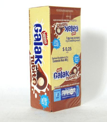 CHOCOLATE GALAK TUBITO 16GRS X30U X 32DISP