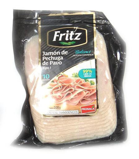 JAMON FRITZ PECHUGA PAVO LIGHT 200GRS